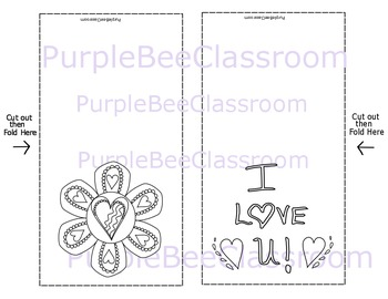 Valentine's Day Coloring Cards Set #3