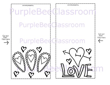 Valentine's Day Coloring Cards Set #4