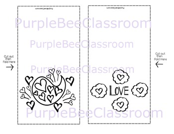 Valentine's Day Coloring Cards Set #5