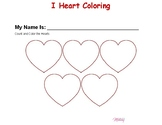 "Valentine""s Day Coloring & Numbers"