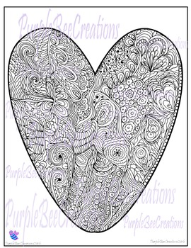 Valentine's Day Coloring Page 1
