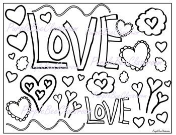 Valentine's Day Coloring Page #4