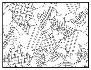 Valentines Day Holiday Visual Arts Coloring Pages Highly Detailed