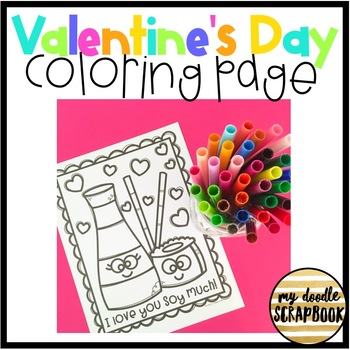 Valentine's Day Coloring Page FREEBIE