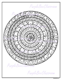 Coloring Page-Valentine's Day Coloring Page-Mandala Coloring Page 2
