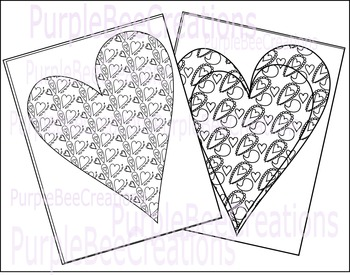 Valentine's Day Coloring Pages Set #2