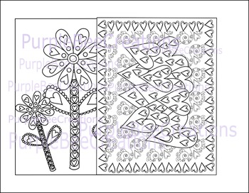 Valentine's Day Coloring Pages Set #3