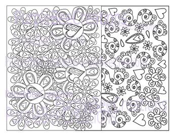 Valentine's Day Coloring Pages Set #4