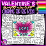 Growth Mindset Quotes Valentine's Day Coloring Pages Sheets