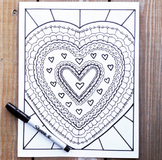 Valentine's Day Activity- Coloring Pages