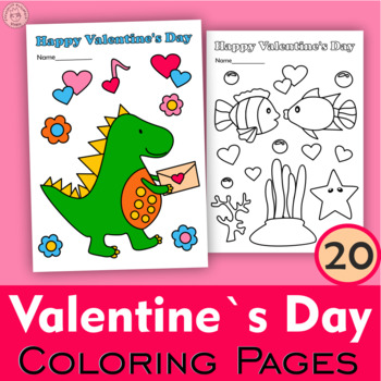Valentine`s Day Coloring Pages