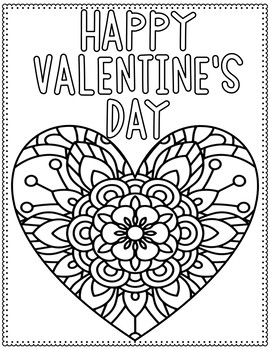 Valentine's Day Coloring Pages by Tessa Maguire | TpT