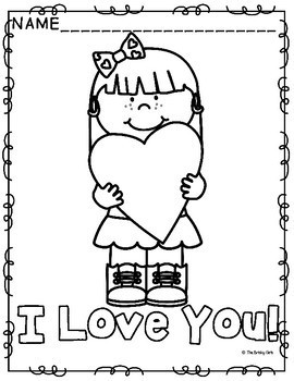 Valentine's Day Coloring Pages-- FREEBIE!!