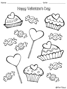 Valentine's Day Coloring Pages FREEBIE