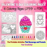 Valentine's Day Coloring Pages - Set of 6
