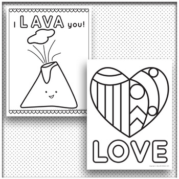 Valentine's Day Coloring Pages and Activity Sheets