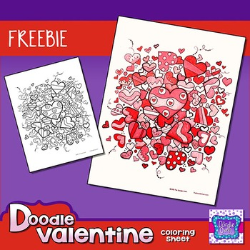 Valentine's Day Coloring Sheet {FREEBIE}