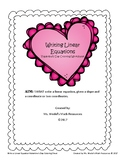 Valentine's Day Coloring Sheet - Write Linear Equations