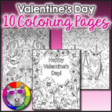 Valentine's Day Coloring Pages, Zen Doodles