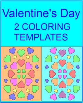 Valentine's Day - Coloring Template (For Personal use Only