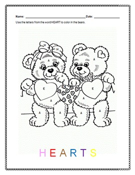 Valentine's Day:  Coloring Worksheet