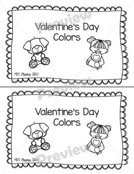 Valentine's Day Colors Emergent Reader