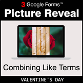 Valentine's Day: Combining Like Terms - Google Forms Math