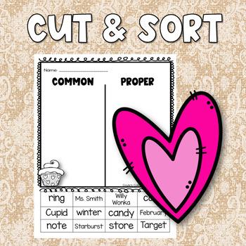 Valentine's Day Common and Proper Noun Sheets
