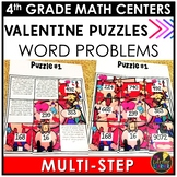 Valentine's Day Multi-Step Word Problems Game