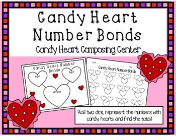 Valentine's Day Composing and Decomposing Kindergarten Math Centers