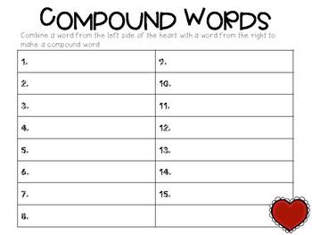 Valentine's Day - Compound Words