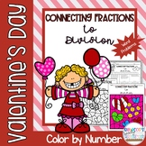 Valentine's Day Connecting Fractions to Division Word Problems Color by Number