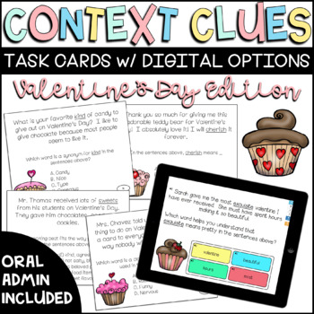 Valentine's Day Context Clues Task Cards
