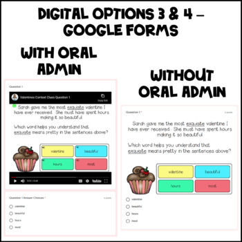 Valentines Day Context Clues Task Cards with Digital BOOM Cards Option