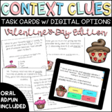 Valentines Day Context Clues Task Cards with Digital BOOM