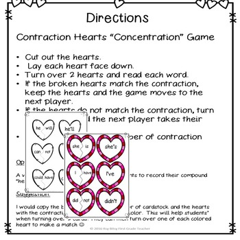 Valentine's Day Contraction Freebie