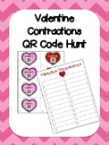 Valentine's Day - Contractions QR Code Hunt