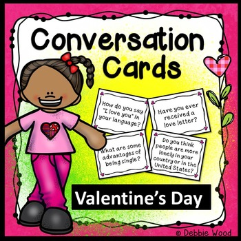 Valentine's Day Conversation Cards with Directions for Mingle Activity