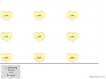 Valentine's Day Conversation Heart Blank Bingo Template
