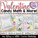 Valentine's Day Conversation Heart Math Activities for 1st and 2nd Grade