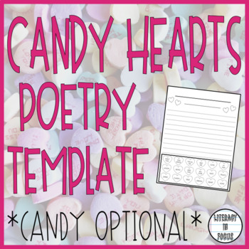 Valentine's Day Conversation Hearts Poetry Template