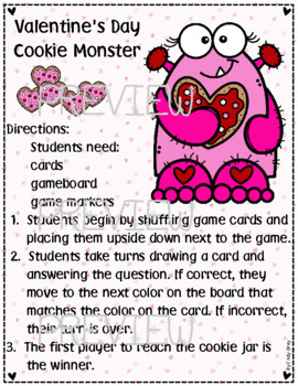 Valentine's Day Cookie Monster Game