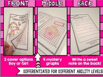 Valentine Coordinate Graphing Cards