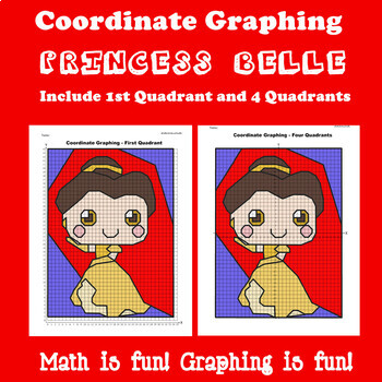 Valentine's Day Coordinate Graphing Picture:Beauty and the Beast(Bundle)