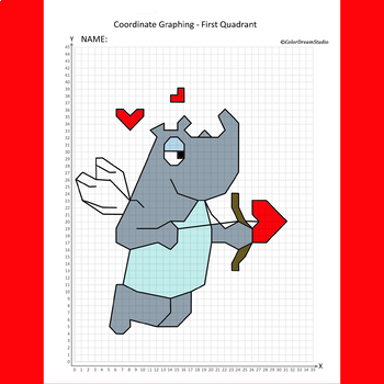 Valentines Coordinate Graphing Pictures Teaching Resources ...