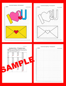 Valentine's Day Coordinate Graphing Picture: Heart/Love Letter
