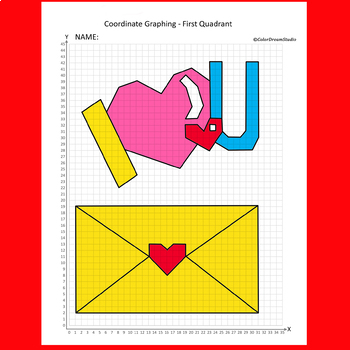 Valentines Day Coordinate Graphing Worksheets & Teaching Resources   TpT