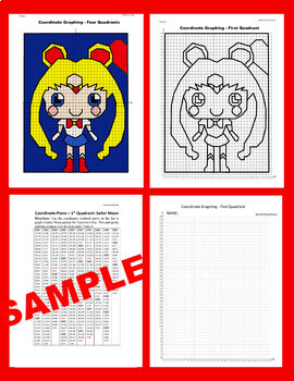 Valentine's Day Coordinate Graphing Picture: Sailor Moon