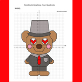 Valentine's Day Coordinate Graphing Picture: Teddy Bear