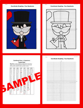 Valentine's Day Coordinate Graphing Picture:Tuxedo Mask